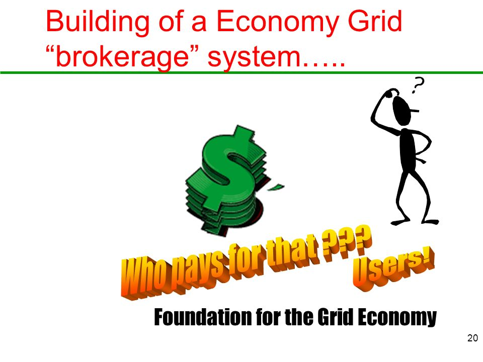 Building of a Economy Grid brokerage system…..