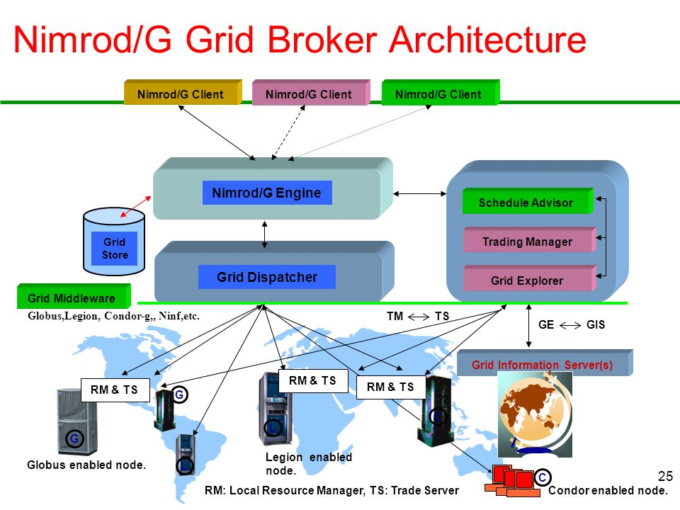 Nimrod/G Grid Broker Architecture