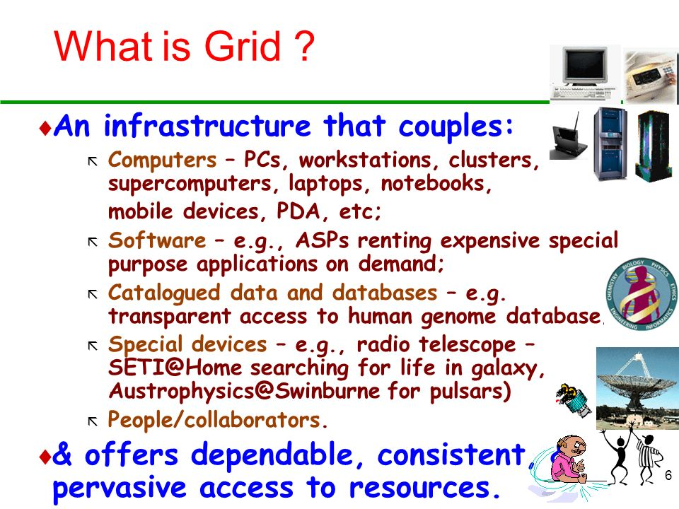 What is Grid An infrastructure that couples: