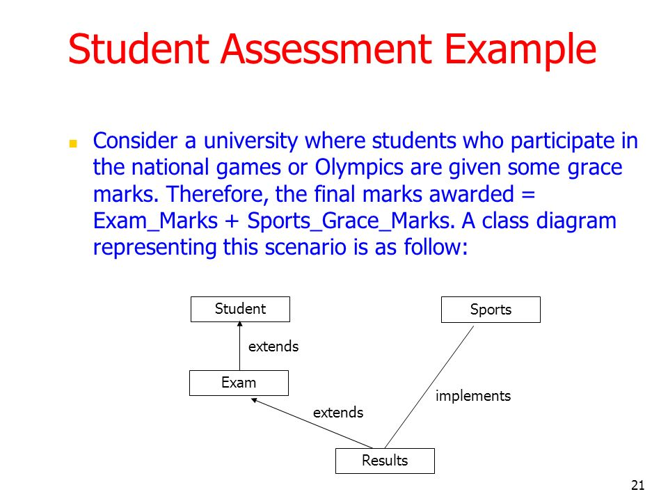 Student Assessment Example