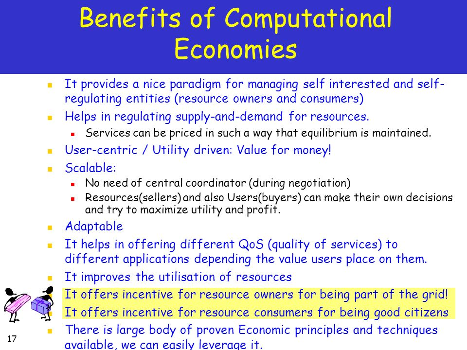 Benefits of Computational Economies