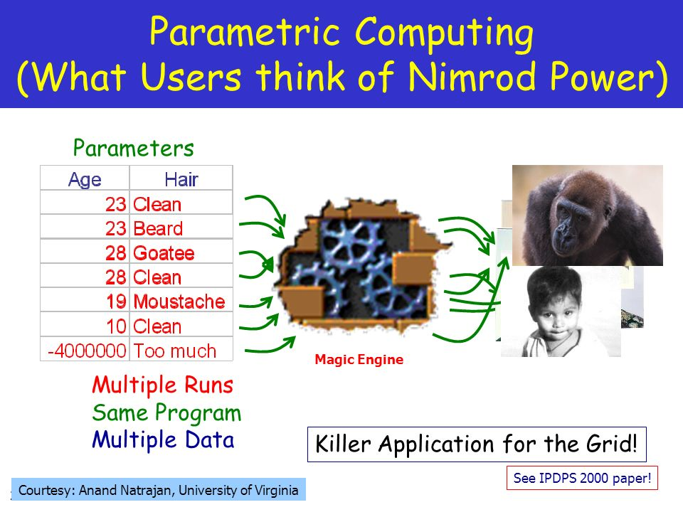 Parametric Computing (What Users think of Nimrod Power)