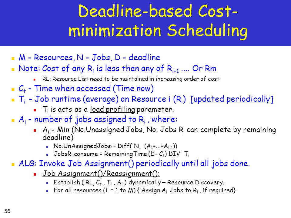 Deadline-based Cost-minimization Scheduling
