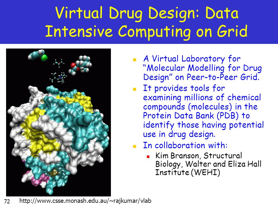 Virtual Drug Design: Data Intensive Computing on Grid