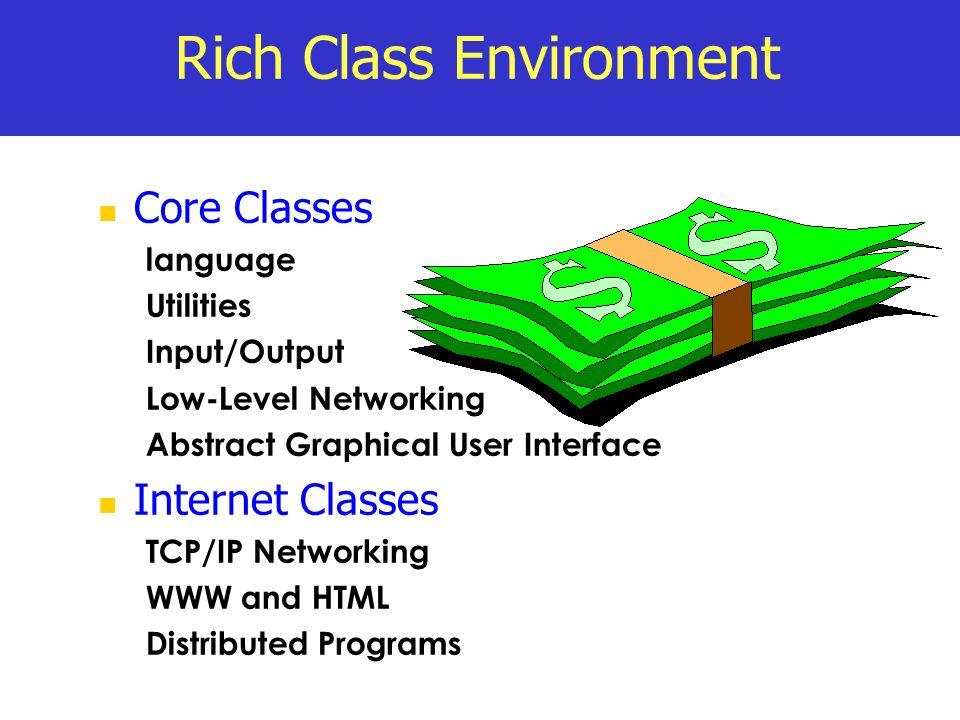 Rich Class Environment