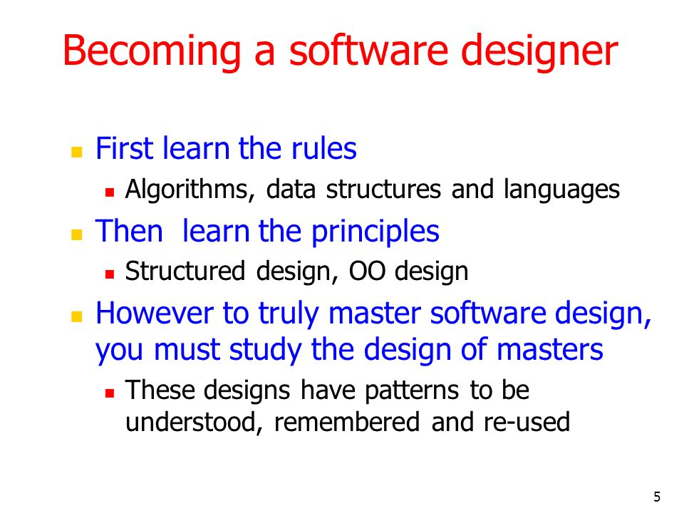 Becoming a software designer