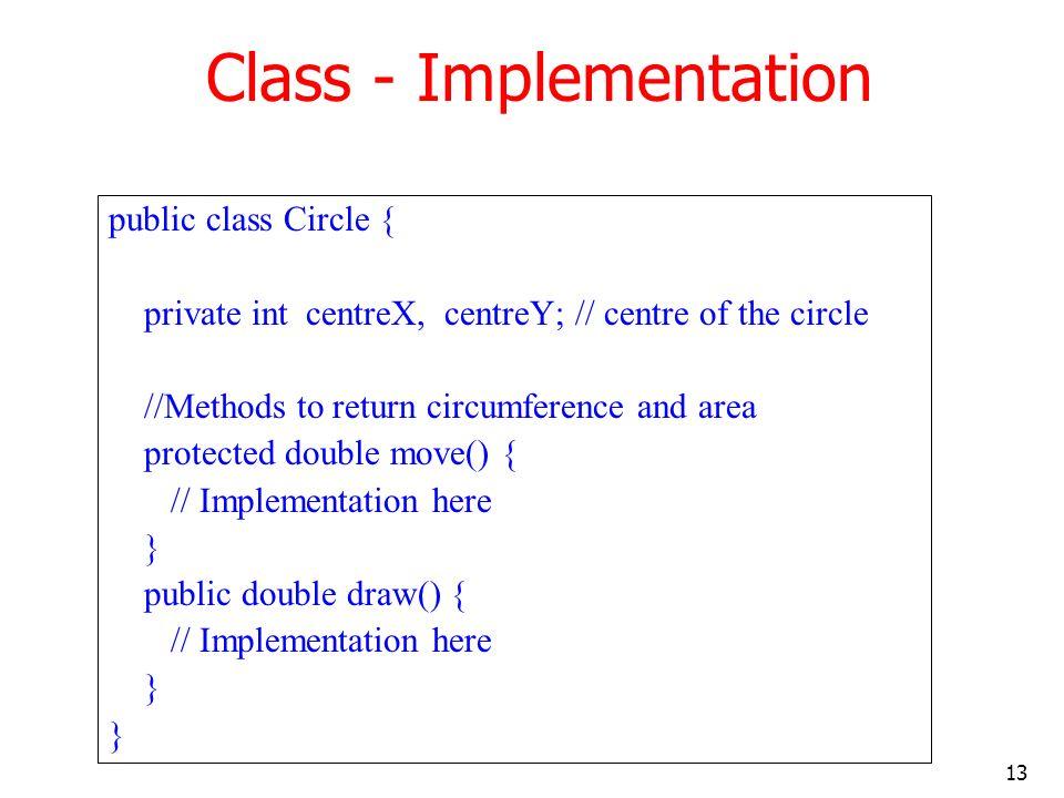 Class - Implementation
