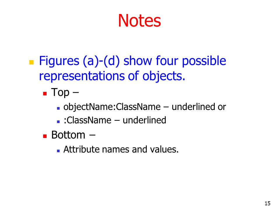 Notes Figures (a)-(d) show four possible representations of objects.