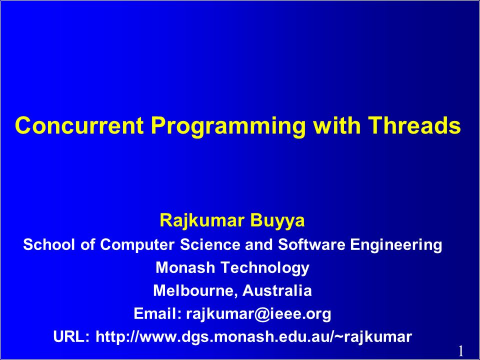 Concurrent Programming with Threads