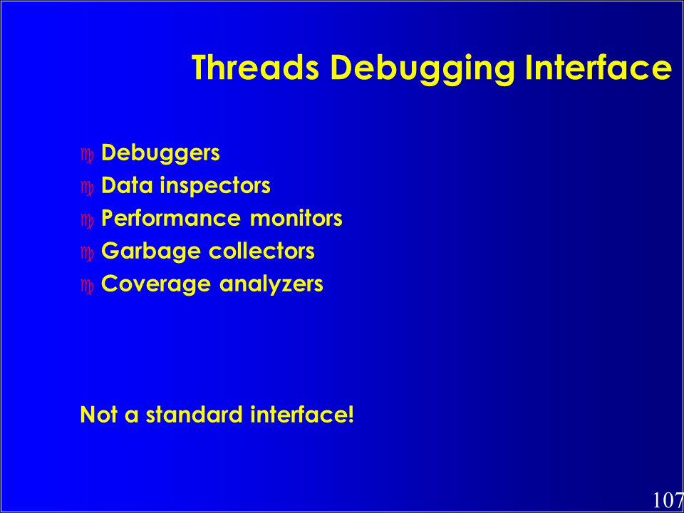 Threads Debugging Interface