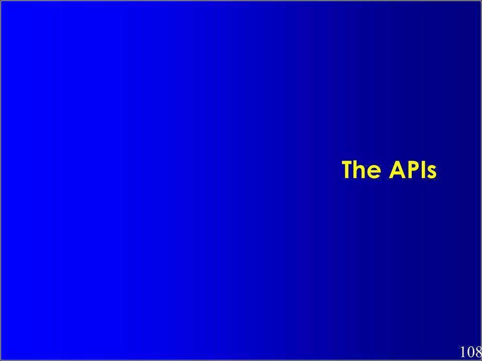The APIs