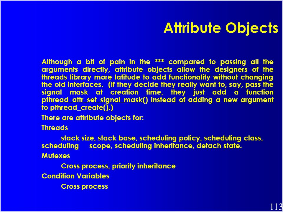 Attribute Objects