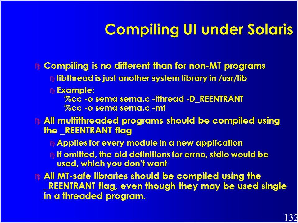 Compiling UI under Solaris