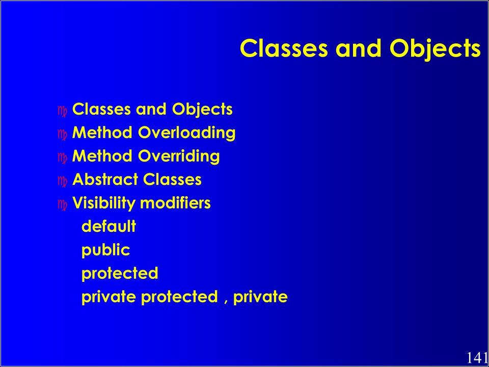 Classes and Objects Classes and Objects Method Overloading