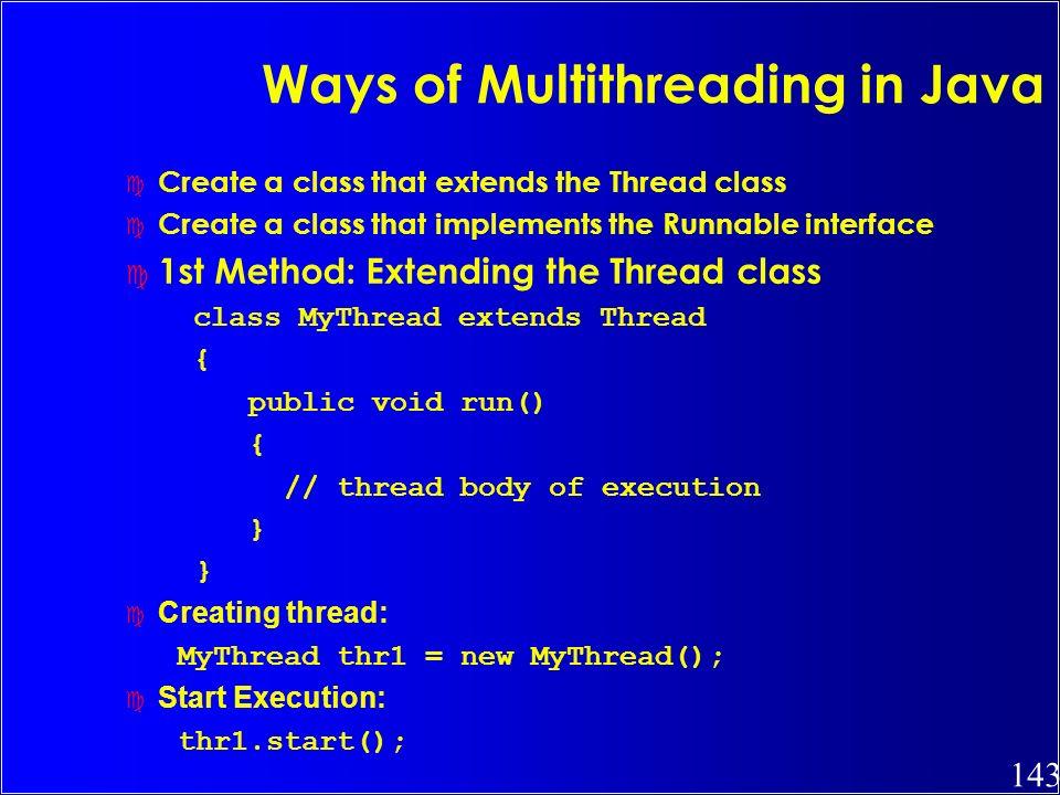 Ways of Multithreading in Java