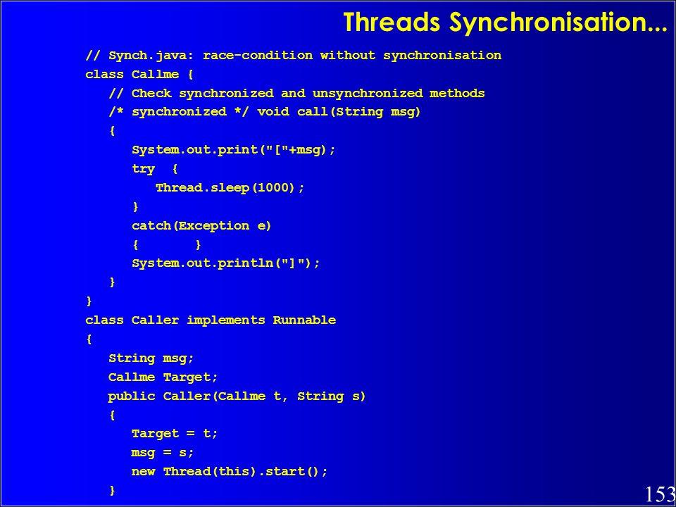 Threads Synchronisation...