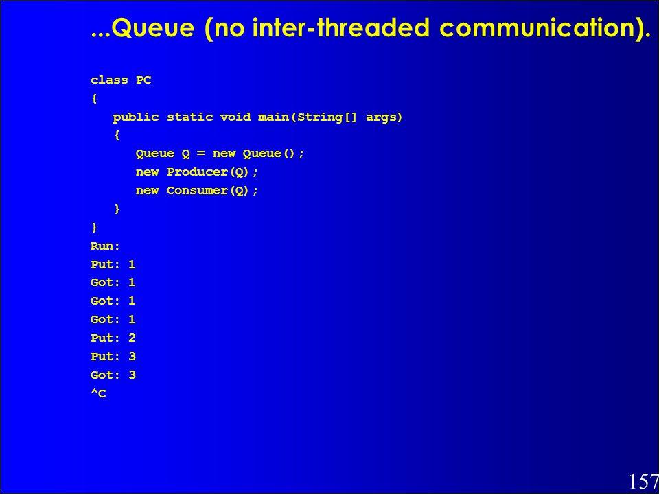 ...Queue (no inter-threaded communication).