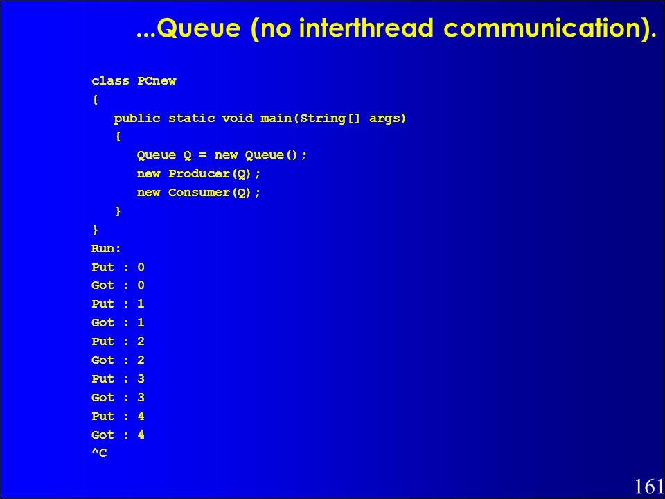 ...Queue (no interthread communication).