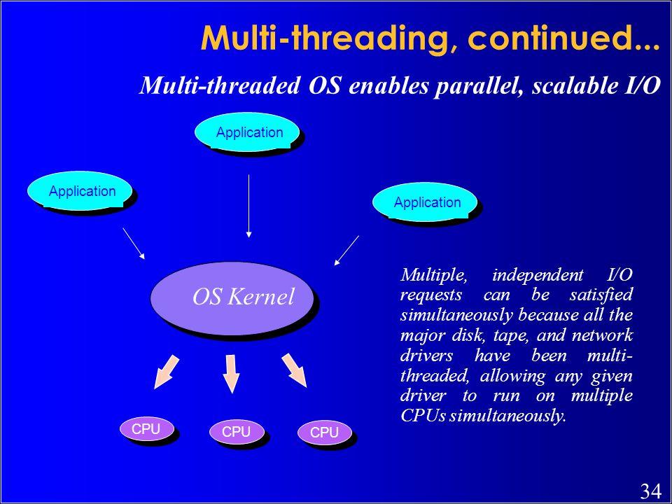 Multi-threading, continued