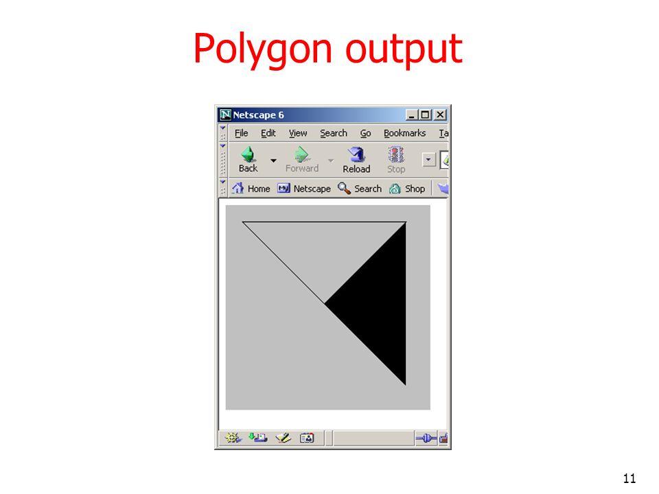 Polygon output