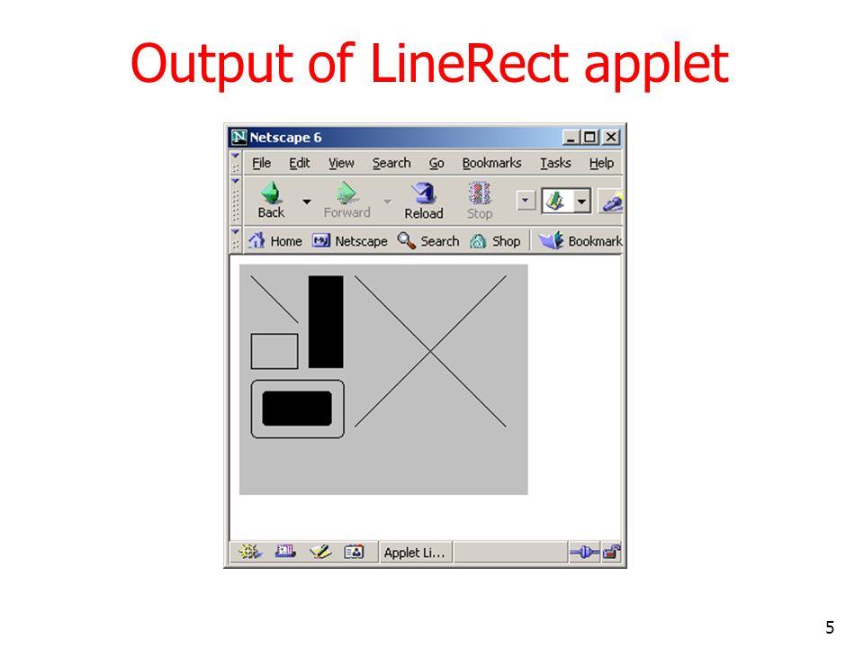 Output of LineRect applet