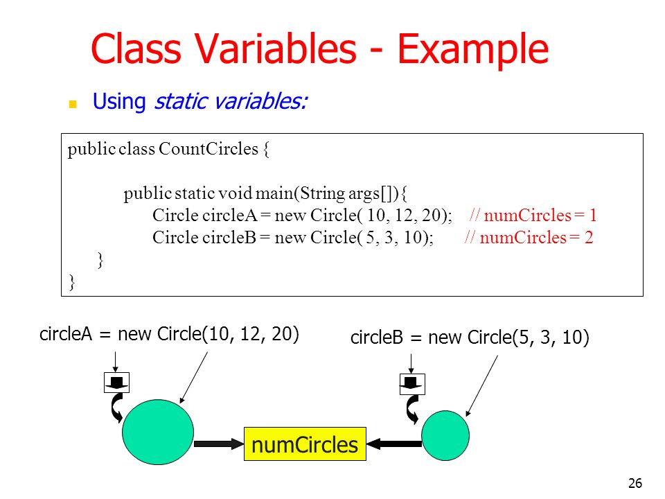 Class Variables - Example