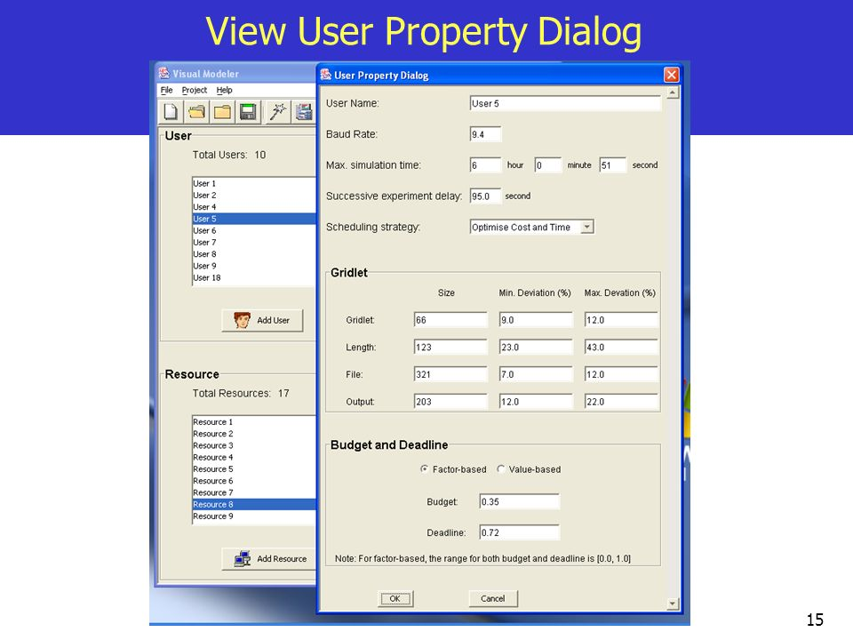 View User Property Dialog
