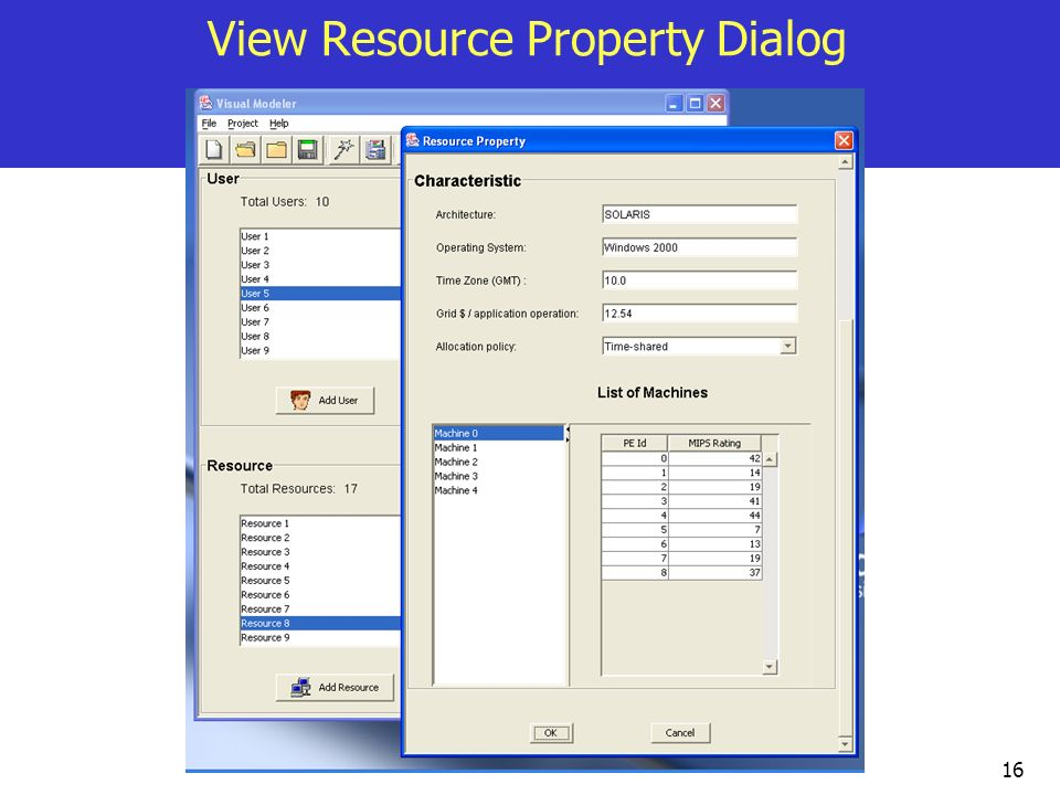 View Resource Property Dialog