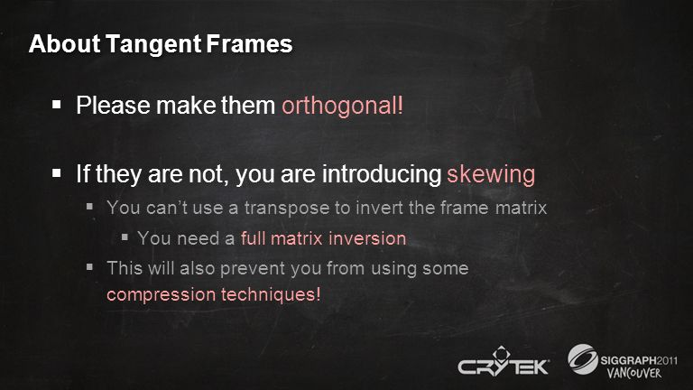 Please make them orthogonal!
