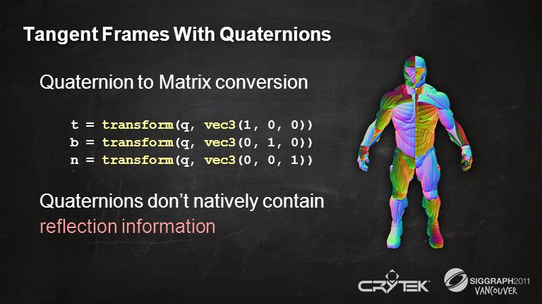 Tangent Frames With Quaternions