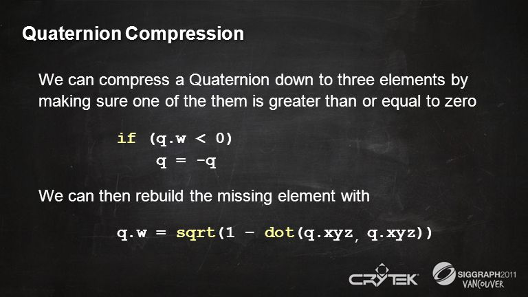 Quaternion Compression