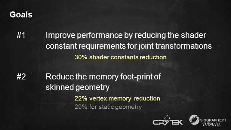 #2 Reduce the memory foot-print of skinned geometry