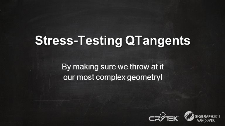 Stress-Testing QTangents