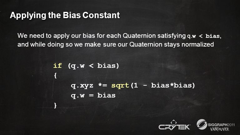 Applying the Bias Constant