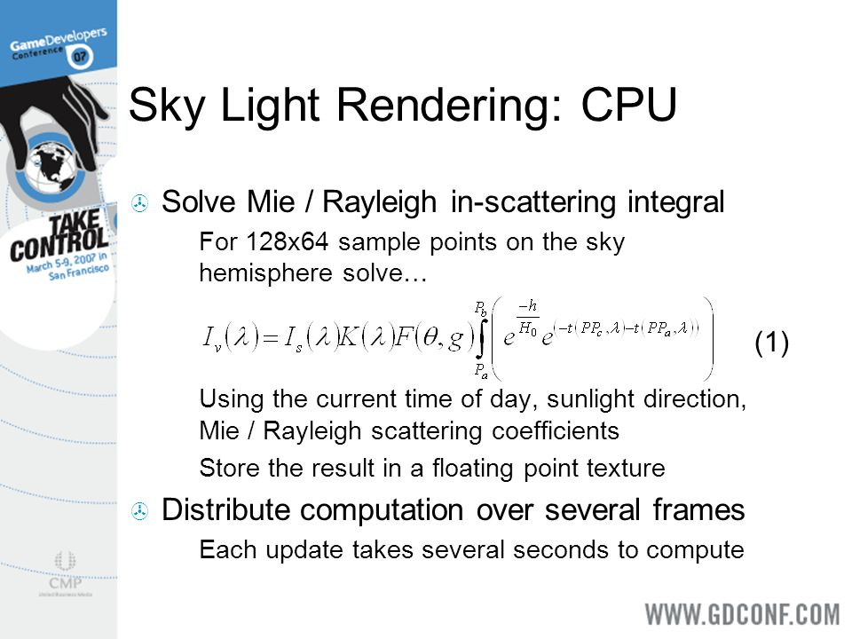 Sky Light Rendering: CPU