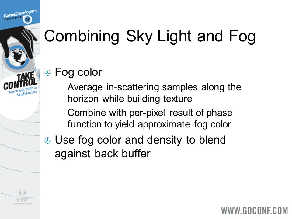Combining Sky Light and Fog