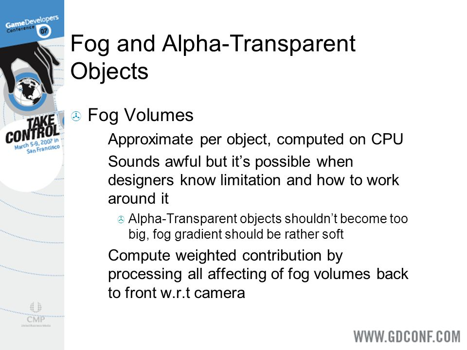 Fog and Alpha-Transparent Objects