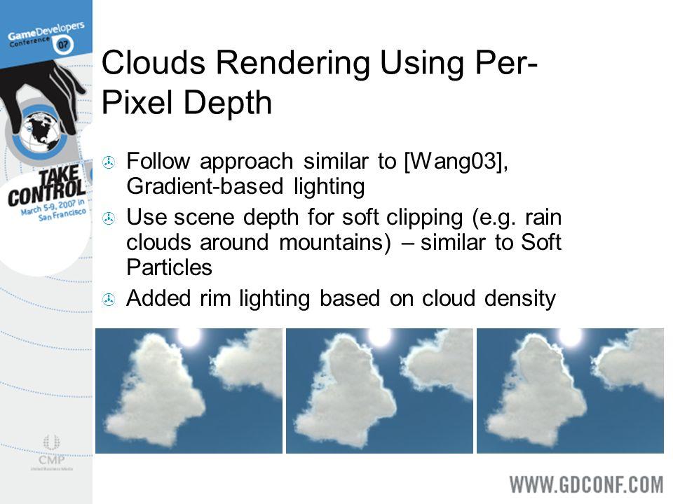 Clouds Rendering Using Per-Pixel Depth