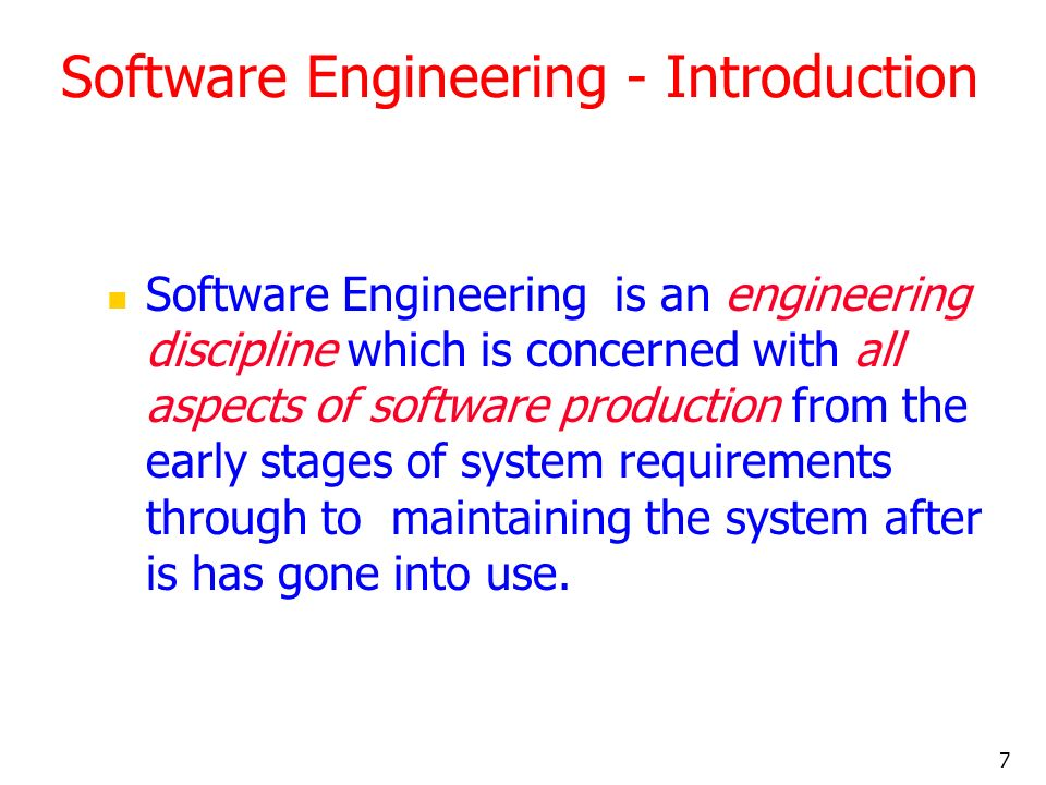Software Engineering - Introduction