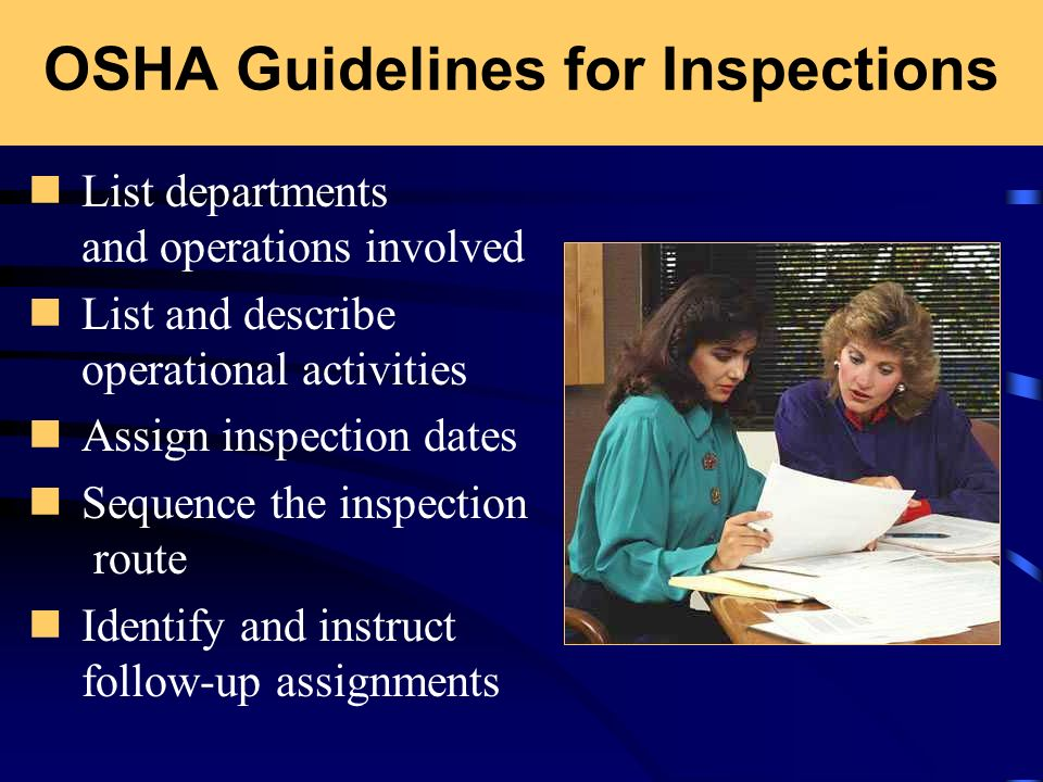 OSHA Guidelines for Inspections