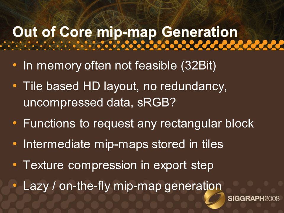 Out of Core mip-map Generation