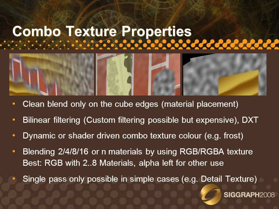 Combo Texture Properties