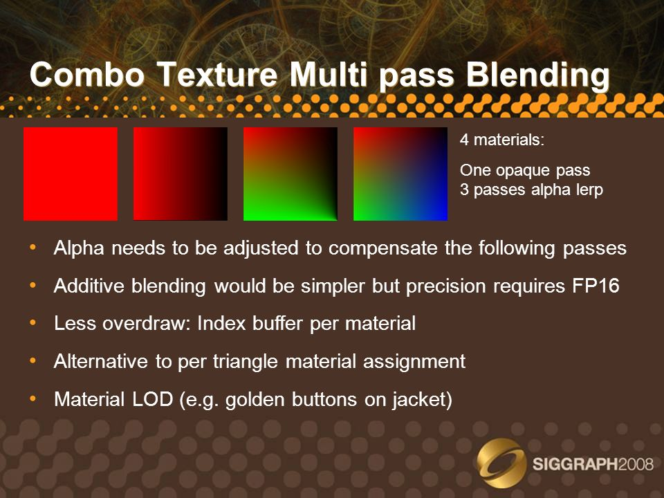 Combo Texture Multi pass Blending