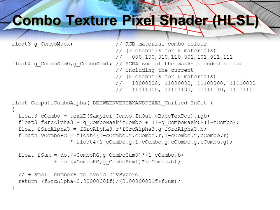 Combo Texture Pixel Shader (HLSL)