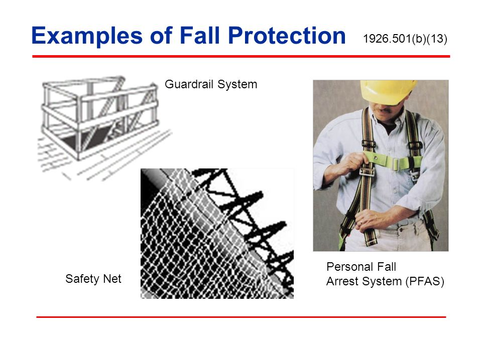 Examples of Fall Protection