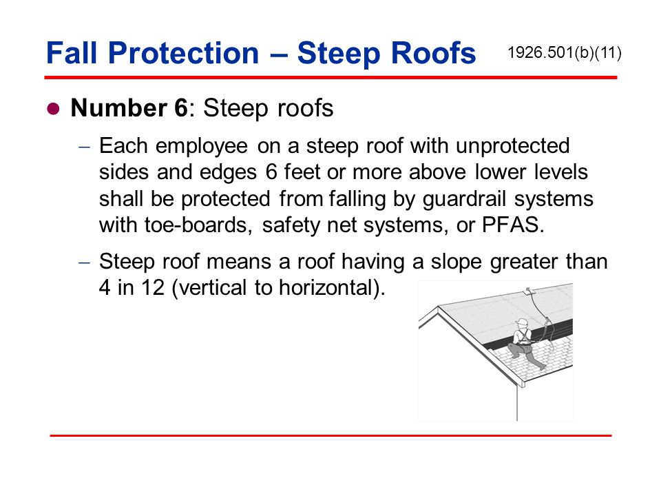 Fall Protection – Steep Roofs