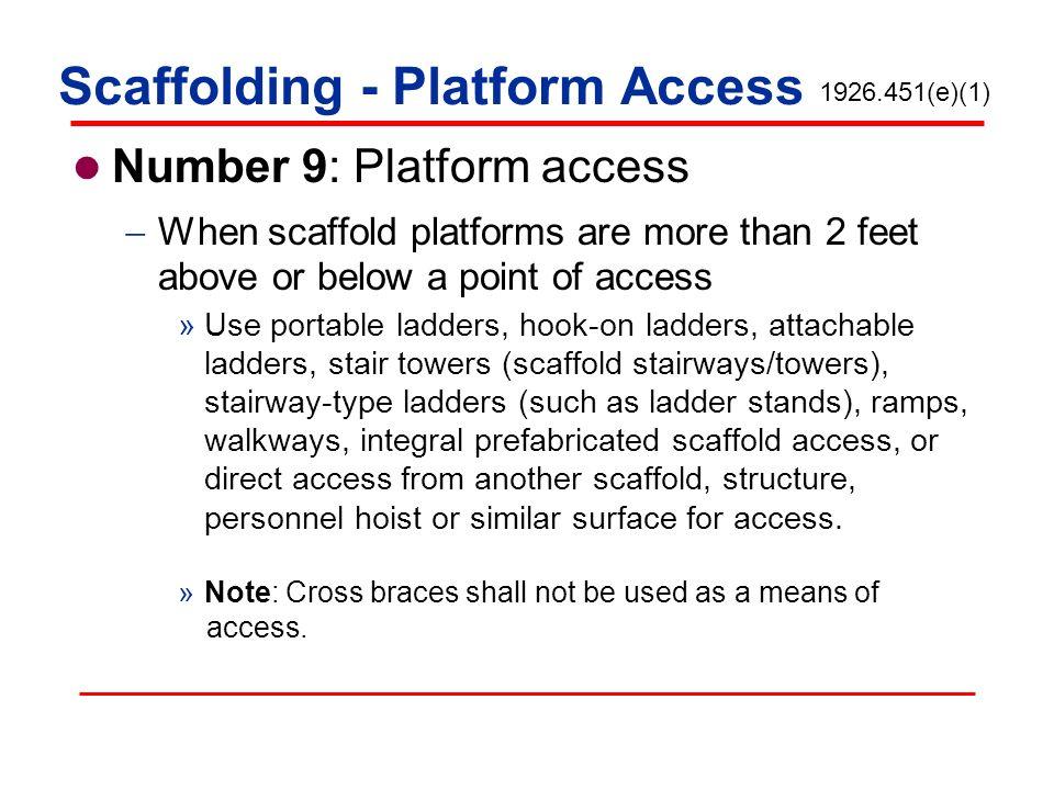 Scaffolding - Platform Access