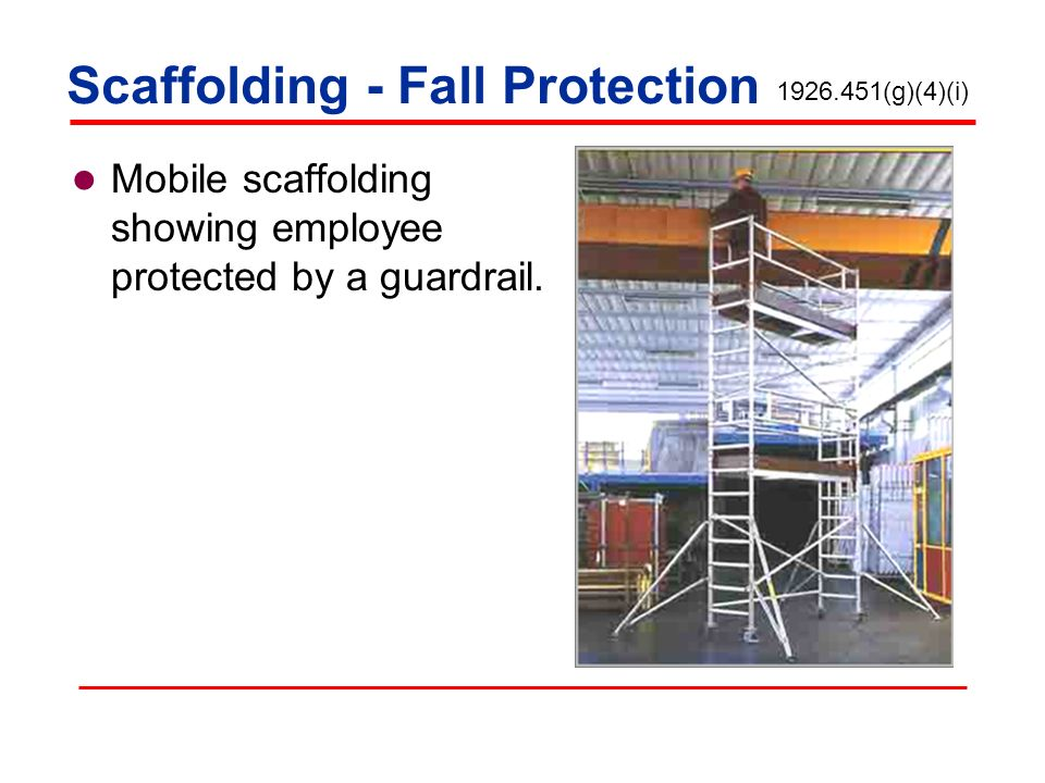 Scaffolding - Fall Protection