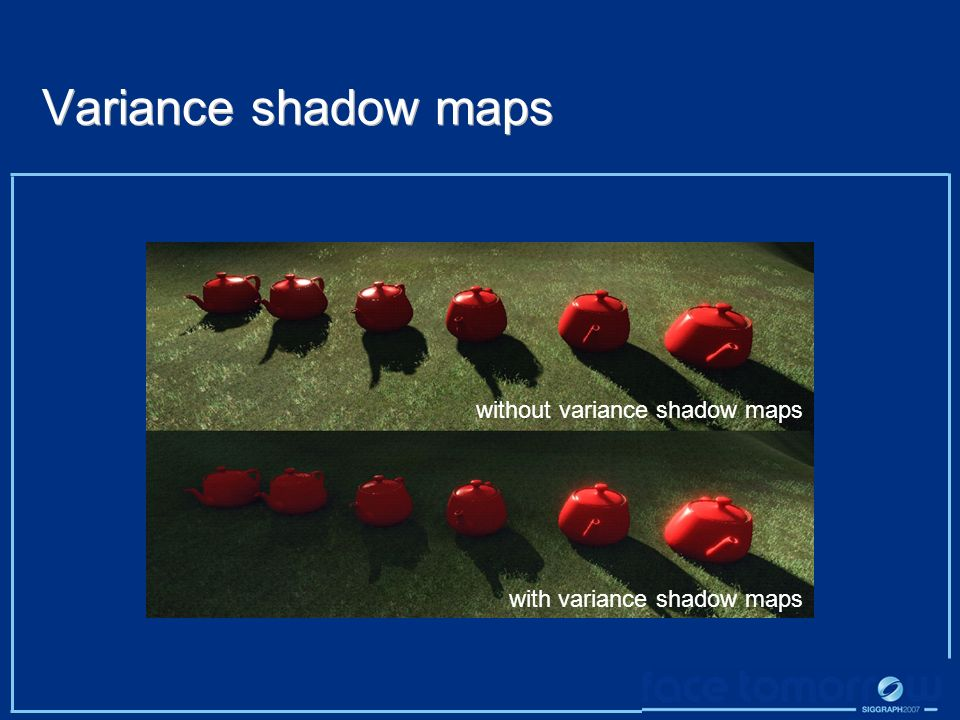 Variance shadow maps without variance shadow maps