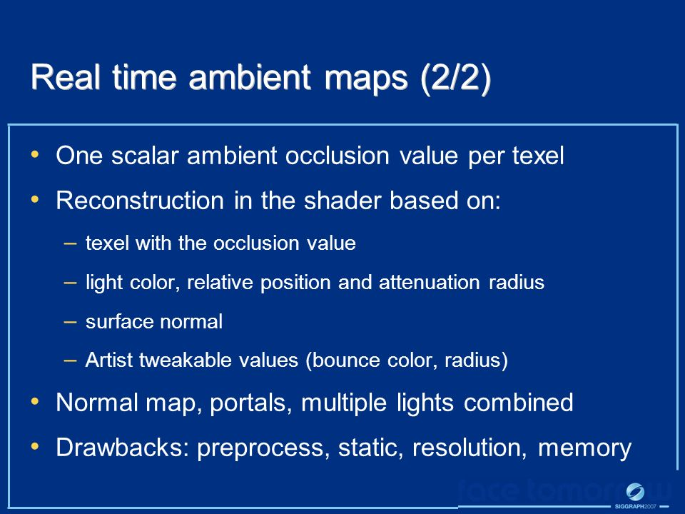 Real time ambient maps (2/2)